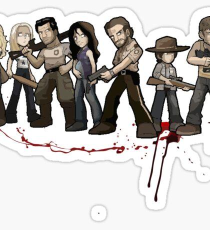 The walking zombie Sticker