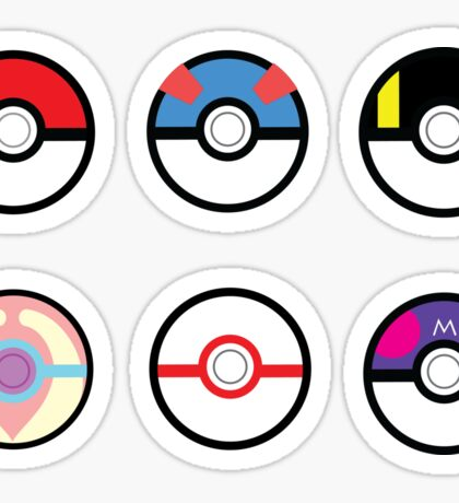 Pokeball Set with Heal Ball Sticker