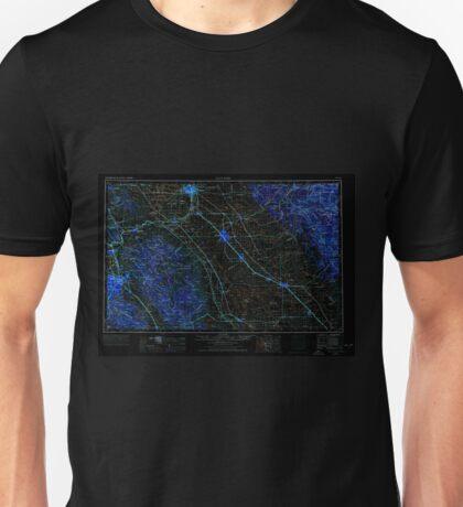 USGS TOPO Map California CA San Jose 302125 1962 250000 geo Inverted Unisex T-Shirt