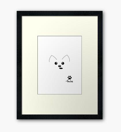 Gabe The Dog Portrait Framed Print