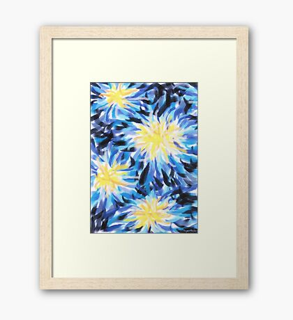 1502 - Stars at the Night-Sky through the Looking Glass Framed Print