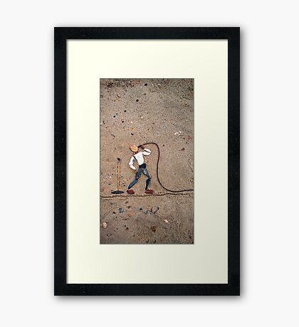 Singer II Framed Print
