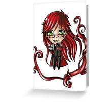 Chibi Grell Greeting Card