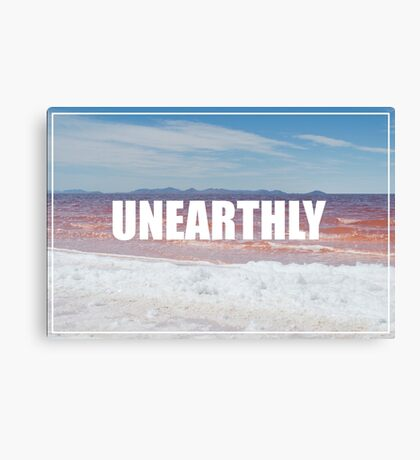 Unearthly - Pink Water Canvas Print