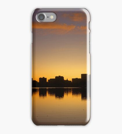 Sunset over Lake Merritt and Downtown Oakland iPhone Case/Skin