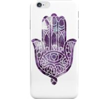 Purple Crystal Hamsa iPhone Case/Skin