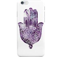 Purple Crystal Hamsa iPhone Case/Skin