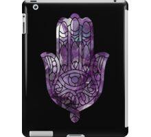 Purple Crystal Hamsa iPad Case/Skin