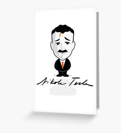 Mini Tesla Greeting Card