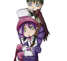 Chibi Mephisto & Amaimon by zeecyanide