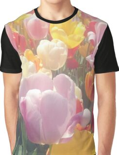 Colorful Tulip Flowers Graphic T-Shirt