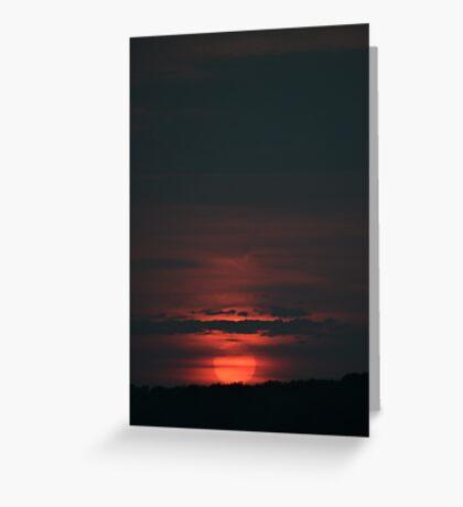 Red Ball Sun, Red Ball Sun Greeting Card