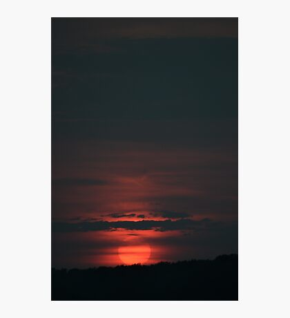 Red Ball Sun, Red Ball Sun Photographic Print