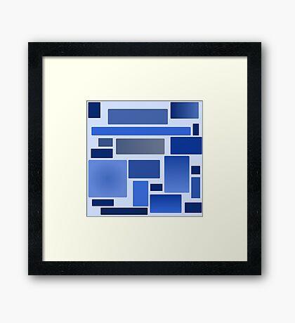 Blue Blocks Framed Print