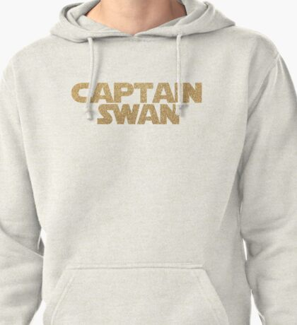 Captain Swan gold on white Pullover Hoodie