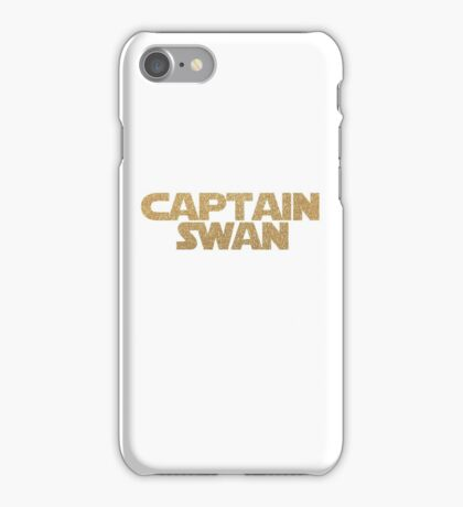 Captain Swan gold on white iPhone Case/Skin