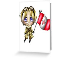 Chibi Canada Greeting Card