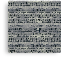 Grunge Music Score Pattern Canvas Print