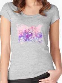 Watercolor swirls 2 Women's Fitted Scoop T-Shirt