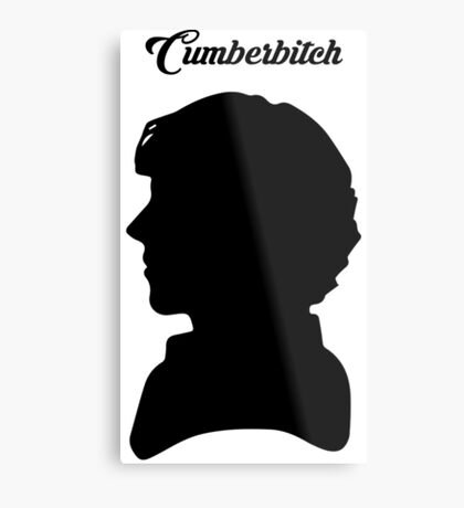 CUMBERBITCH - Sherlock TV Series/Benedict Cumberbatch Fan Metal Print