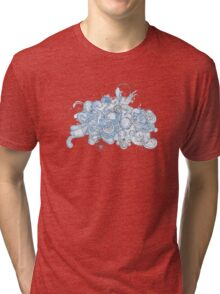 Watercolor swirls 3 Tri-blend T-Shirt