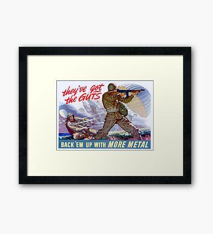 WWII Paratrooper poster  Framed Print