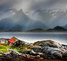 Abandoned Fisherman's Hut. Lofoten Islands. Norway. by PhotosEcosse