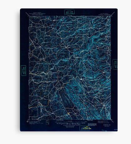 USGS TOPO Map California CA Jackson 299390 1902 125000 geo Inverted Canvas Print