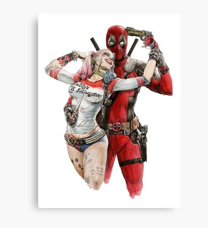 Harley Quinn & DP Canvas Print