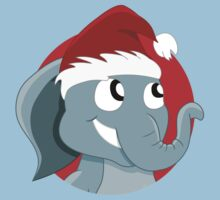 Cute Christmas elephant cartoon Kids Clothes