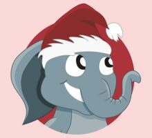 Cute Christmas elephant cartoon Kids Tee