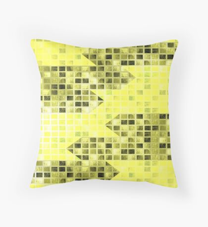 Abstract Yellow Arrows Pattern Throw Pillow