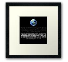 Peice of a Pale Blue Dot Framed Print
