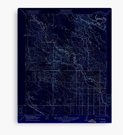 USGS TOPO Map California CA Delta Ranch 296046 1922 31680 geo Inverted Canvas Print