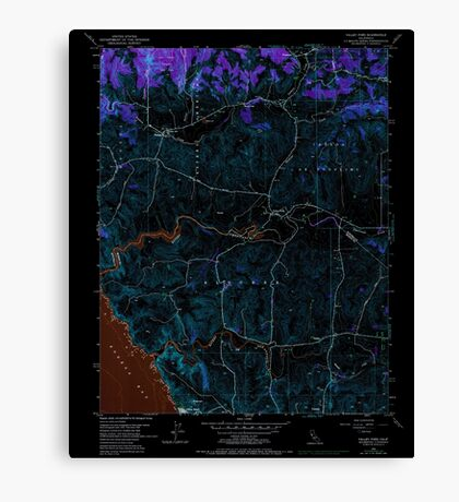 USGS TOPO Map California CA Valley Ford 102543 1954 24000 geo Inverted Canvas Print