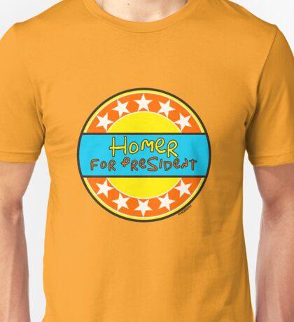 HOMER FOR PRESIDENT Unisex T-Shirt