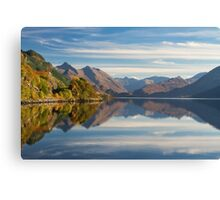 Five Sisters and Loch Duich, from Inverinate . North West Highlands. Scotland. Canvas Print