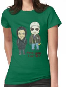 are you 1 or 0? Womens Fitted T-Shirt