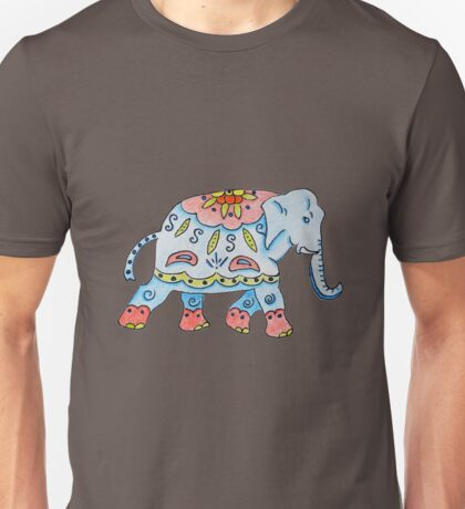 Decorated elephant Indian style Unisex T-Shirt