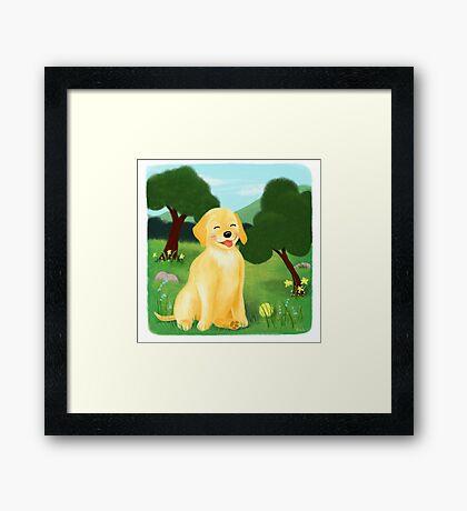 A Golden Day Framed Print
