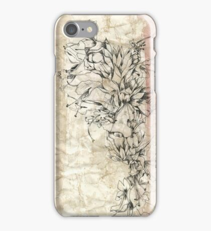 Batik Hyssop Cascade Botanical iPhone Case/Skin