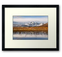 Blaven, Reeds and Snow. Isle of Skye. Scotland. Framed Print