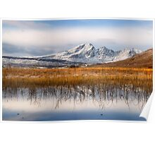 Blaven, Reeds and Snow. Isle of Skye. Scotland. Poster