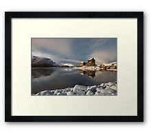 Eilean Donan Castle in Winter, Loch Duich, Scotland. Framed Print