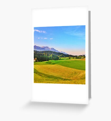 Mountain and Field Countryside Greeting Card