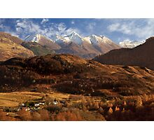 The Five Sisters of Kintail. North West Highlands of Scotland. Photographic Print
