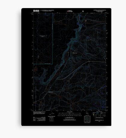 USGS TOPO Map California CA Surprise Station 20120323 TM geo Inverted Canvas Print