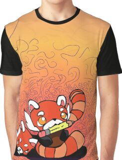 Red Panda Doodles Graphic T-Shirt