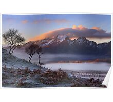 Blaven and Winter Mists. Isle of Skye. Scotland. Poster