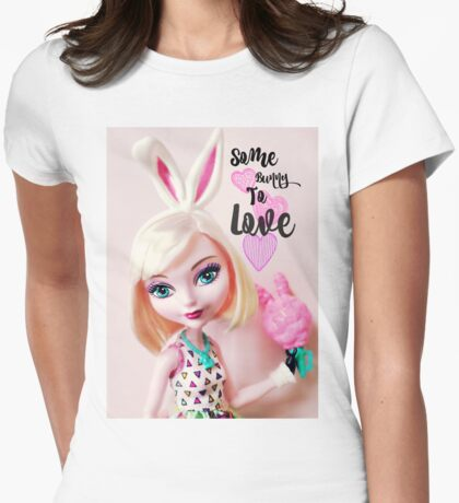 Some Bunny To Love Womens Fitted T-Shirt